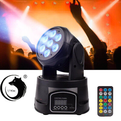 RGBW 105W 7 LED Moving Head Light 5Modes Disco Stage Party Wedding Lighting