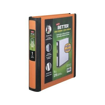 Staples Better Mini 1-Inch D 3-Ring View Binder Orange  9245