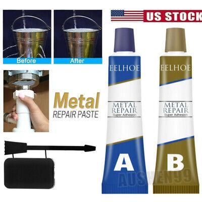 2Pack Industrial Heat Resistance Cold Weld Metal Repair Paste A&B Adhesive Gel