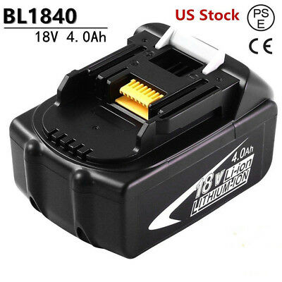 Replacement for Makita 18v Battery 4.0AH BL1840 BL1850 BL1860 BL1830 BL1845 Tool