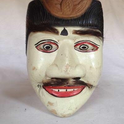 Old Topeng Wayang Bali Java Theatre Mask Wood Mask 12