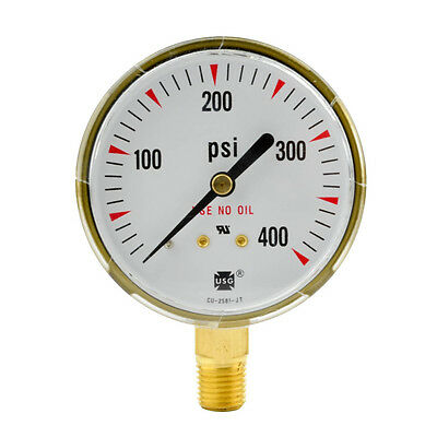 2-12 X 400 Psi Welding Regulator Repair Replacement Gauge For Acetylene 2.5 In