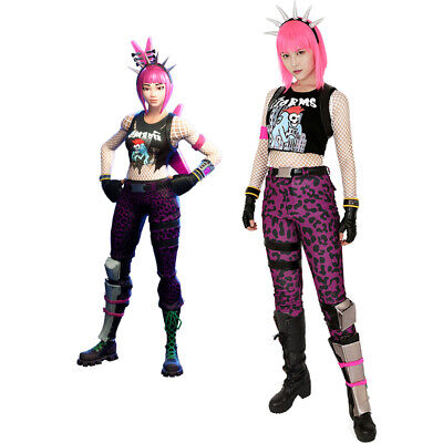 Power Chord Cosplay Costume Fullset Women Adult Fancy Dress Outfit - Powerful Women Costumes