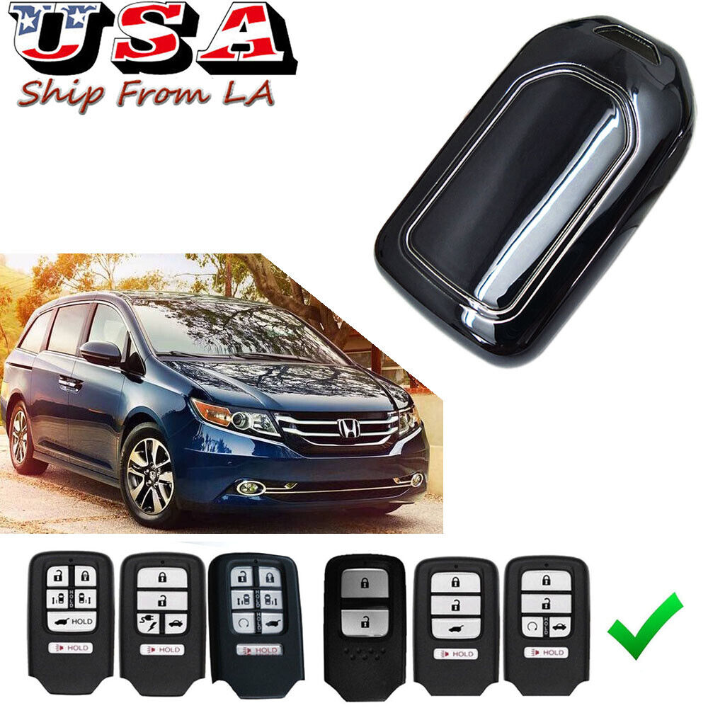 Black and Navy Blue Key Remote Case Key Fob Covers fit for Honda Civic Accord