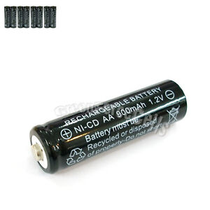 8 Pcs AA 2A 900mAh 1.2V Ni-Cd Ni-Cad Solar Light Rechargeable battery Black