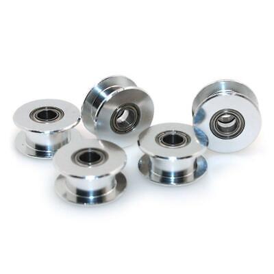 Biqu Gt2 5mm Bore Aluminum Toothless Timing Belt Idler Pulley For 3d Printer 6mm