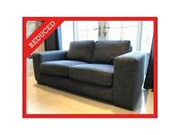 Grey Large Sofa Couch Suite 2 Two to 3 Three Seater Seats Lounge Dining Room Bedroom RRP £695