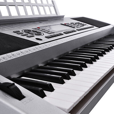 LCD 61 Key MIDI Silver Electric Keyboard Music Digital Personal Electronic Piano on Rummage