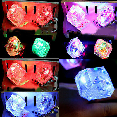 Flashing Diamond Large Plastic Ring Bride Rings Women Jewelry Gift Party Acc Toy