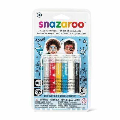 Face Paint Sticks (SNAZAROO FACE PAINT STICKS - BOYS, SET OF)