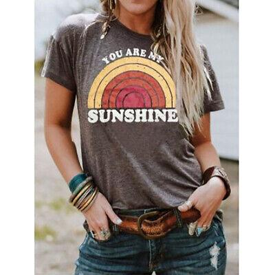 Fashion Womens Short Sleeve Shirt Top