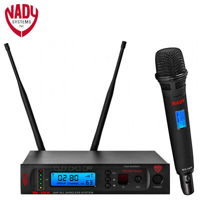 NEW Nady W-1KU HT 1000-Channel Pro UHF Handheld Microphone Wireless System Nady Professional Wireless Handheld Microphone