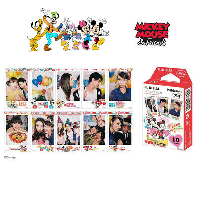 Fujifilm Instant Mini Disney Mickey Film 10 Photos For Fuji Instax 7s 8 9 70 90