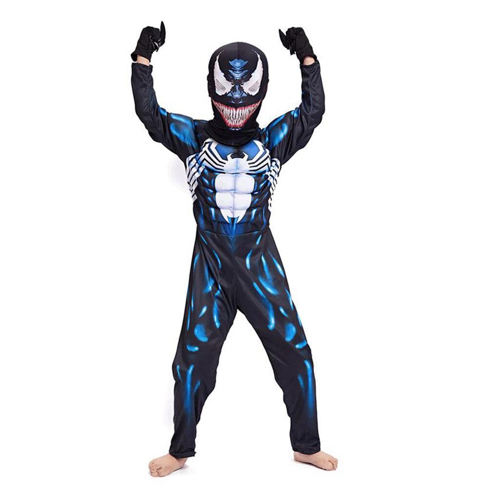 New Design Venom Spiderman Costume Suit Tights for Kids Favors Dress Up