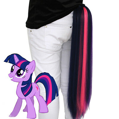 My Little Pony Twilight Sparkle Tail dash hair fall tie on cos extension - My Little Pony Adult Pajamas