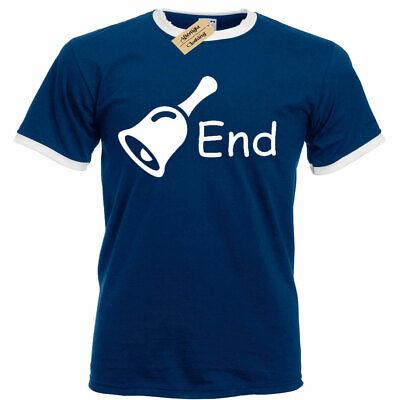 Glocke Ende Lustig Witz Humor Beleidigend Herren Ringer T-Shirt - Humor Ringer