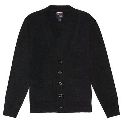 V-neck Kids Sweater (Kids Black Sweater V-Neck Cardigan French Toast School Uniform Size XS to XL )