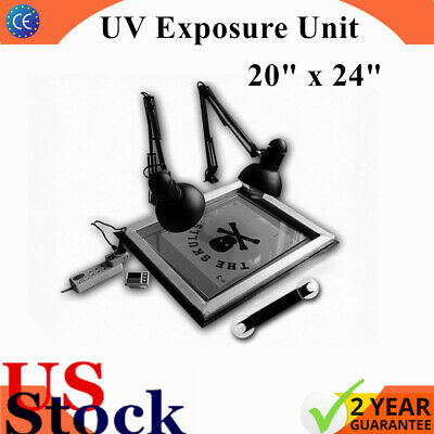 Us Stock Uv Exposure Unit Screen Print Plate Making Silk Screening Diy 20 X 24