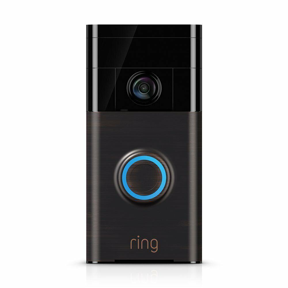 Ring Wi-Fi Enabled Video Doorbell in Venetian Bronze, Works
