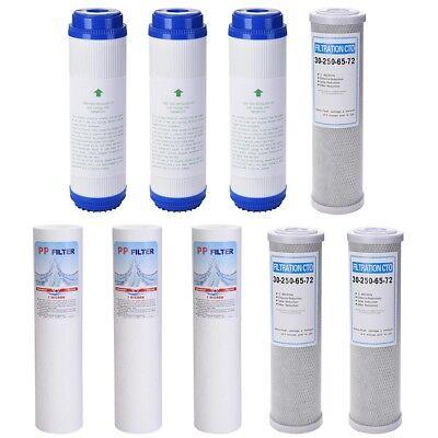9 pc Reverse Osmosis Replacement Filter Set RO Water Sedimen