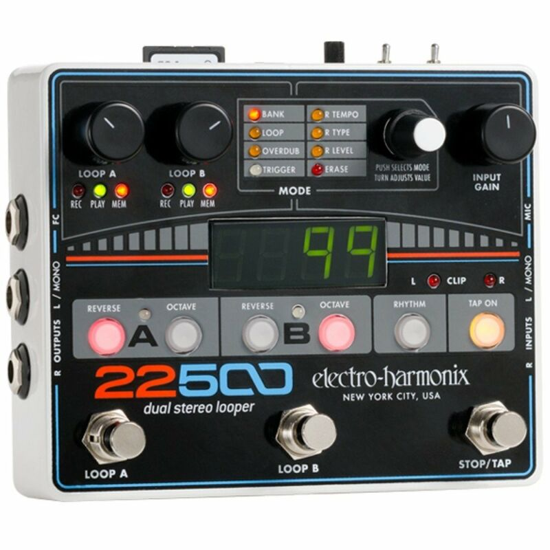 Electro-Harmonix 22500 Dual Stereo Loop Guitar Effect Pedal with XLR Mic Input