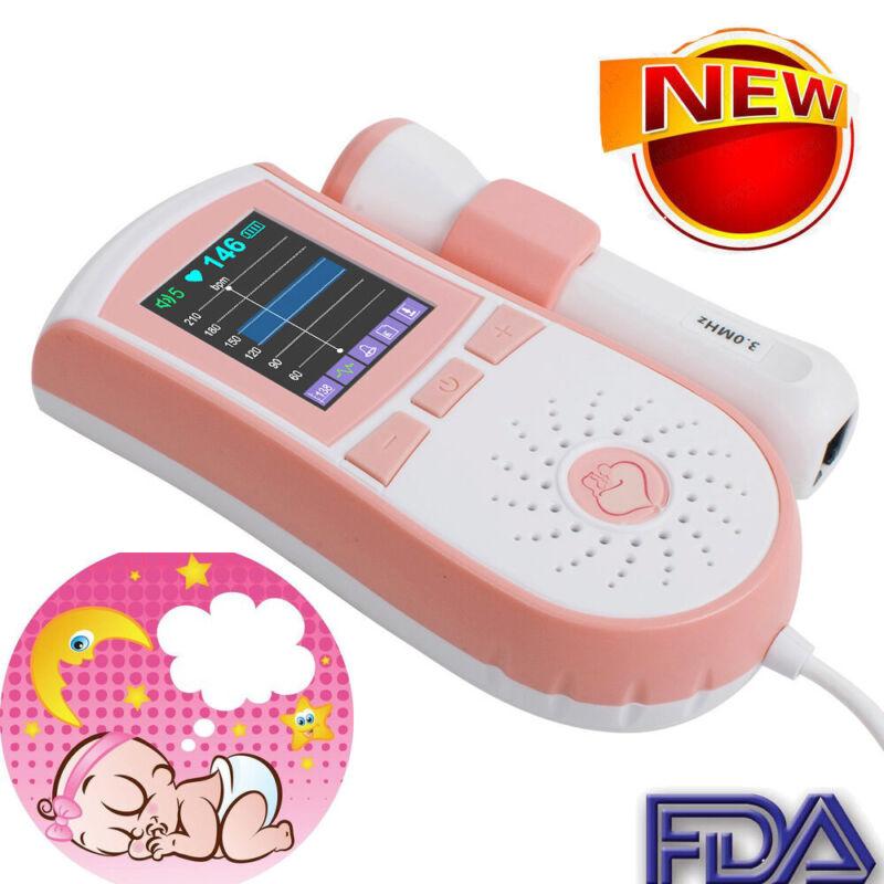3MHz LCD Display Pocket Fetal Doppler Prenatal Heart Baby Heart Monitor FDA CE