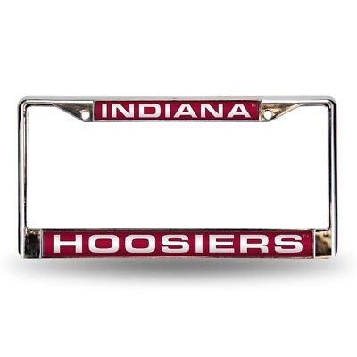 (Indiana Hoosiers Chrome Metal Laser Cut License Plate Frame)