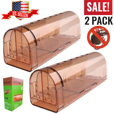 2 Pack Smart Humane Mouse Trap Catch & Release Live Rodent for Mice Rat Pet Safe