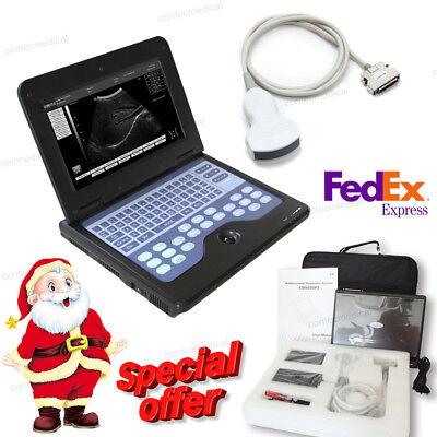Portable Ultrasound Scanner Laptop Diagnostic Machine Convex Probethermometer