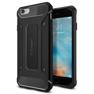 For Apple iPhone 6S / 6 Spigen® [Capsule Ultra Rugged] Black Protective Case for sale  Shipping to India
