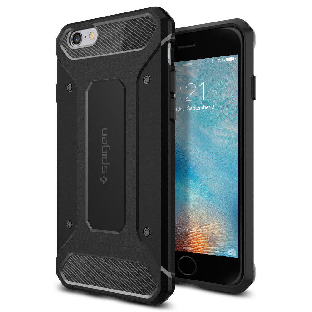 For Apple iPhone 6S / 6 Spigen®  Black Protective Case