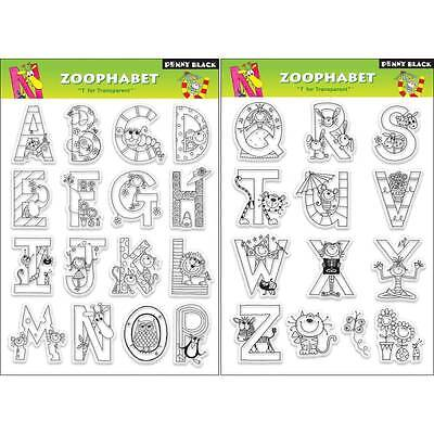 New Penny Black RUBBER STAMP clear ZOOPHABET ALPHABET LETTERS Set free usa ship