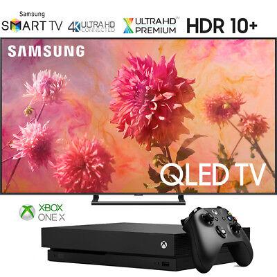"Samsung QN65Q9FNA 65"" Q9FN QLED Bright 4K UHD TV (2018) + Xbox One X 1TB Console"