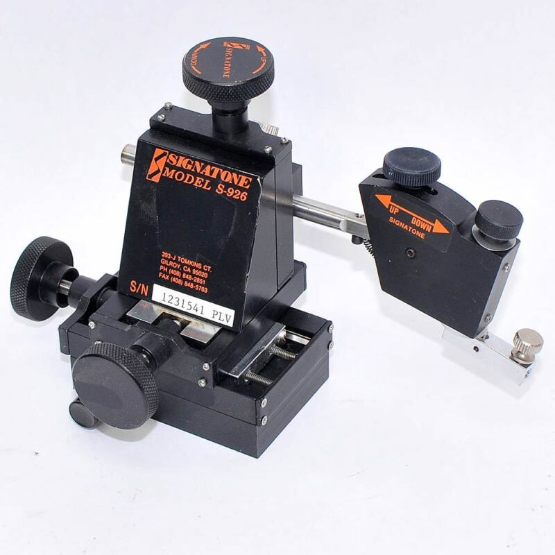 Signatone Micromanipulator Model S-926 Micropositioning Stage 5 Axis Left XYZ
