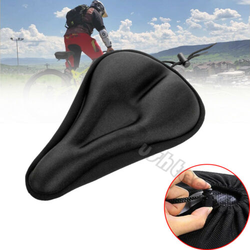 Bike Seat Cover Comfort Cushion Cover Soft Padded Mountain Bicycle Saddle Sport