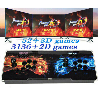 Pandora's Box 12s 3188 In 1 Retro Video Games Button Double Stick Arcade Console