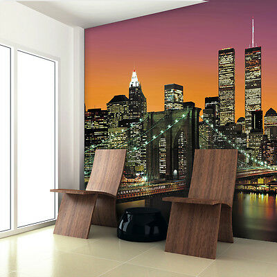 Home Sticker Mural Wall Decal New York City Photo Decoration 366cm x 254cm