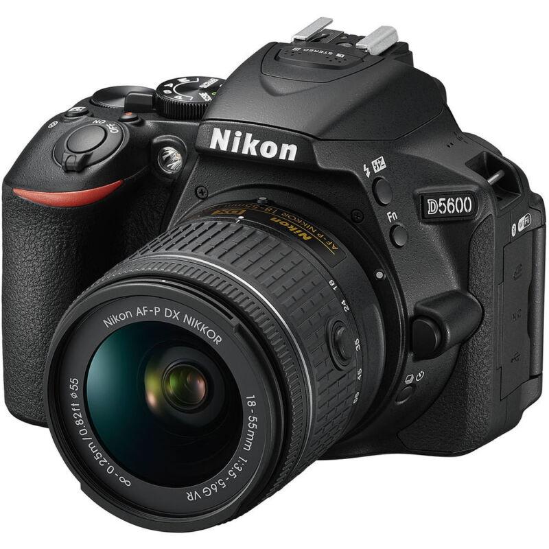 Nikon D5600 DSLR Camera with AF-P DX NIKKOR 18-55mm f/3.5-5.6G VR Lens Black 1576