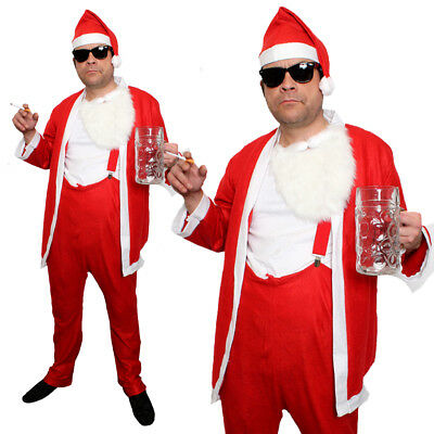 ADULTS BUDGET NAUGHTY SANTA CLAUS BAD FATHER CHRISTMAS CHEAP COSTUME FANCY DRESS