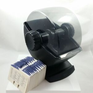 Rolodex Rotary Swivel Base Card File with Cover- Black