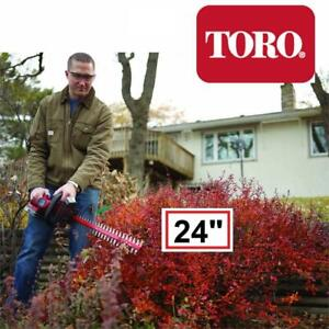 NEW TORO 24 CORDLESS HEDGE TRIMMER 51496A 246119724 24-Inch 24-Volt Lithium-Ion Red/Silver TOOL