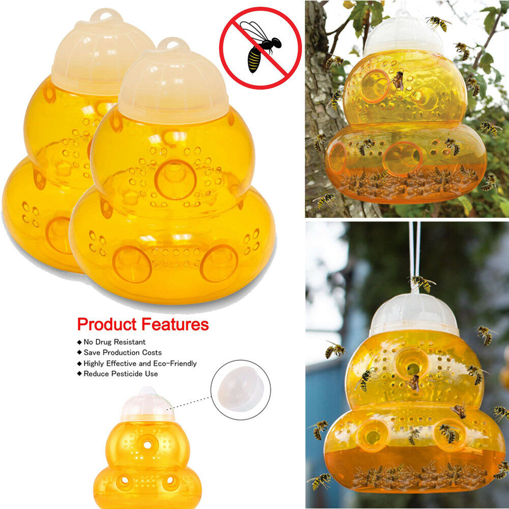 2pack Wasp Trap Hornets Yellow Jackets Wasp Repellent Hornet Trap Bee Catcher