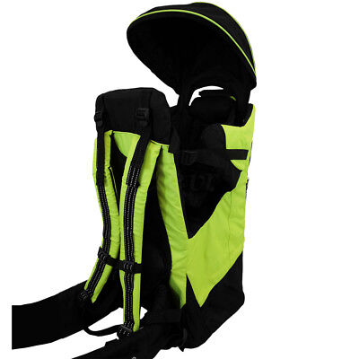 Купить Deluxe Adjustable Baby Carrier Outdoor Light Hiking Child Backpack Camping Green