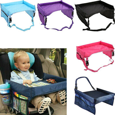 Kids Travel Tray Car Seat Play Table Board for Snack Waterproof Safety Toy Eat Car Seat Tray Table