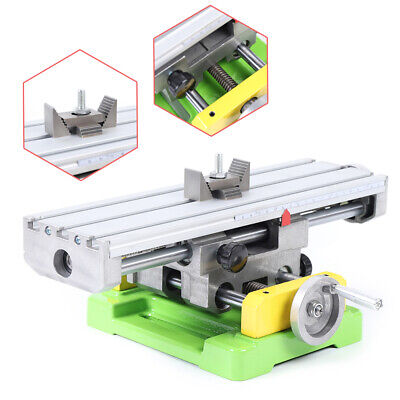 2 Axis Milling Machine Bench Working Table X Y Cross Slide Table Drill Vise Usa