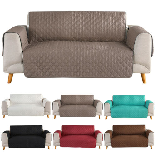 1/2/3 Seat Quilted Microfiber Sofa Couch Cover Pad Chair