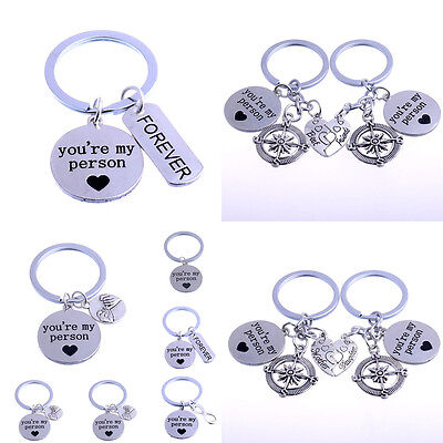 Youre My Person Best Friend Mother Daughter Love Heart Keyring Keychain Family