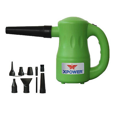 XPOWER B-53 Airrow Pro 115V Pet Hair Dog Dryer Blower Duster Air Pump - Green