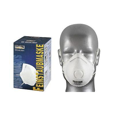 12 x Feinstaubmaske FFP2 Ventil mittig Staubmasken Atemschutzmaske Staubmaske