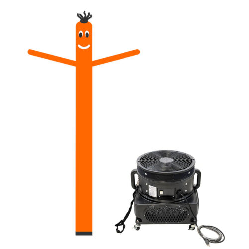 Orange Tube-Man Air Inflatable Dancer with Blower - 20 FT